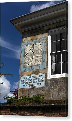 Canvas Print featuring the photograph Salisbury Sundial by Ross Henton