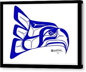 Salish Seahawks Logo Canvas Print