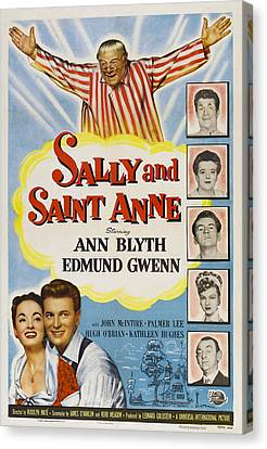 Sally And Saint Anne, Top Edmund Gwenn Canvas Print by Everett