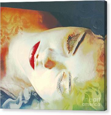 Sally Sleeps Canvas Print