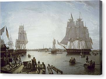 Salmon, Robert 1775-1845. Boston Canvas Print by Everett