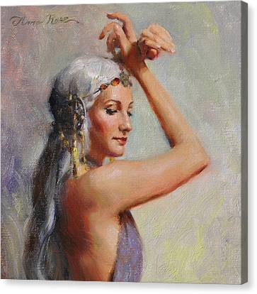 Braids Canvas Print - Salome by Anna Rose Bain