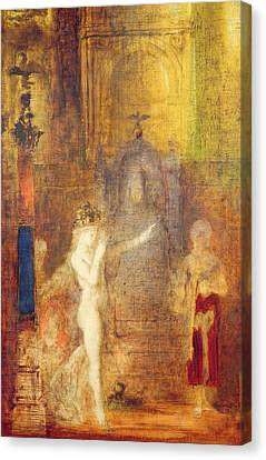 Salome Dancing Before Herod Canvas Print by Gustave Moreau