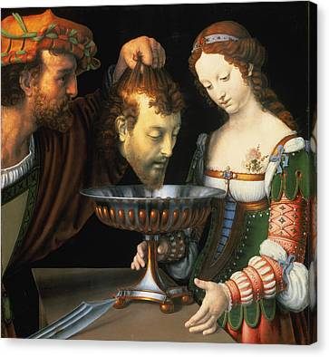 Salome With The Head Of John The Baptist, 152024 Panel Canvas Print by Andrea Solario