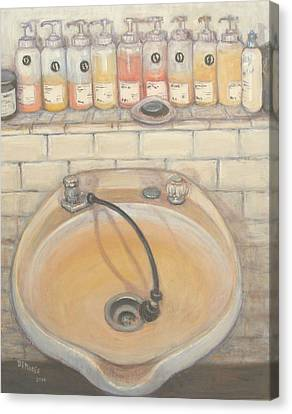 Hair-washing Canvas Print - Salon #3 by Donelli  DiMaria