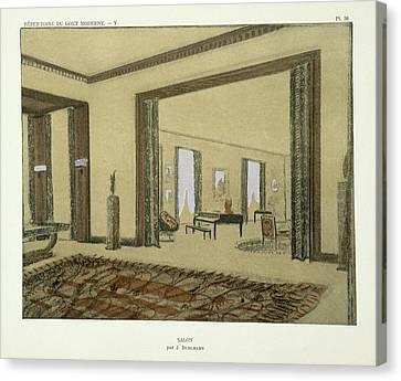 Salon, From Repertoire Of Modern Taste Canvas Print