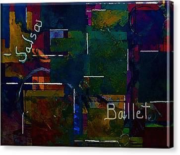Canvas Print featuring the painting Salsa Ballet by Lisa Kaiser