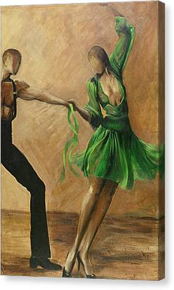Canvas Print featuring the painting Salsa by Sheri  Chakamian