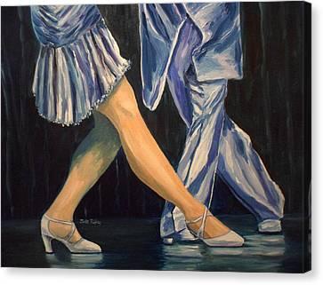 Salsa Stepping Canvas Print by Julie Brugh Riffey