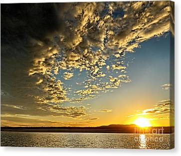 Salt And Pepper Gold - Sunset. Canvas Print by Geoff Childs
