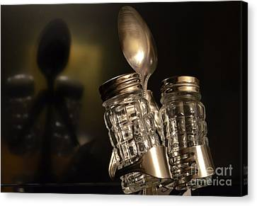 Salt And Pepper Reflection Canvas Print by David G Nichols