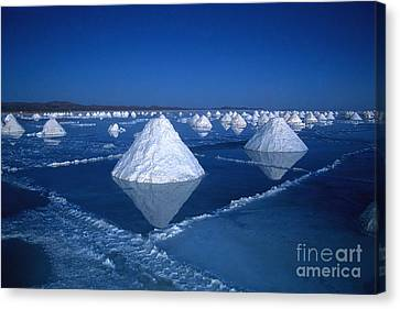Salt Cones At Nightfall Canvas Print