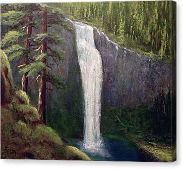 Salt Creek Falls Canvas Print by Kenny Henson