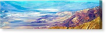 Salt Flats Viewed From Dantes View Canvas Print
