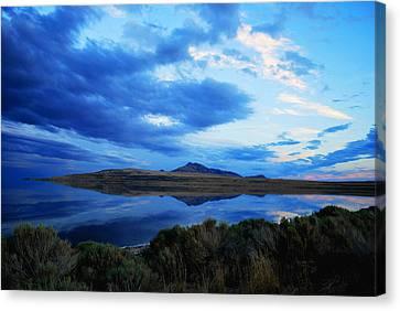 Salt Lake Antelope Island Canvas Print by Matt Harang