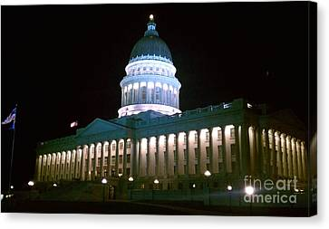 Canvas Print featuring the photograph Salt Lake Capitol Building by Chris Tarpening