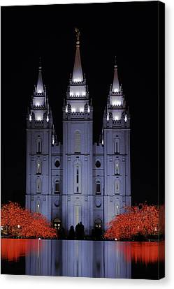 Salt Lake Christmas Canvas Print