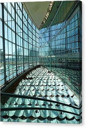 Canvas Print featuring the photograph Salt Lake City Library by Ely Arsha