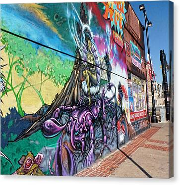 Canvas Print featuring the photograph Salt Lake City - Mural 3 by Ely Arsha