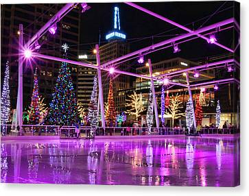 Canvas Print featuring the photograph Salt Lake City - Skating Rink - 2 by Ely Arsha