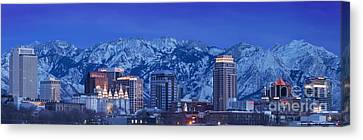 Salt Lake City Skyline Canvas Print by Brian Jannsen