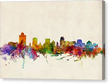Salt Lake City Skyline Canvas Print by Michael Tompsett