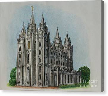 Salt Lake City Temple I Canvas Print