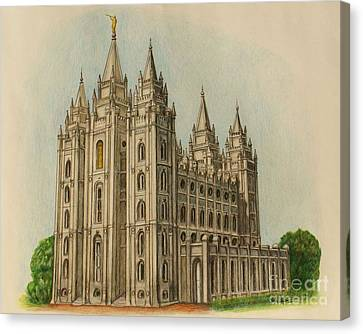 Salt Lake City Temple II Canvas Print