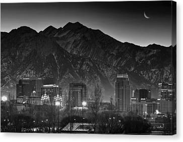 Salt Lake City Utah Skyline Canvas Print by Utah Images