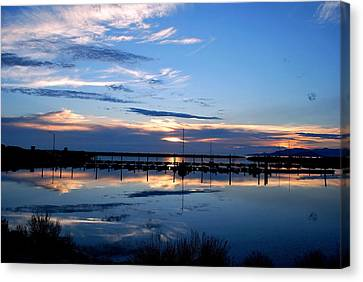 Salt Lake Marina Sunset Canvas Print by Matt Harang