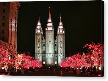 Canvas Print featuring the photograph Salt Lake Temple - 1 by Ely Arsha