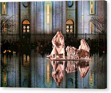 Canvas Print featuring the photograph Salt Lake Temple - 2 by Ely Arsha