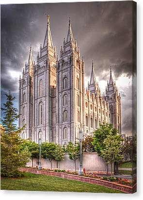 Salt Lake Temple Canvas Print by Niels Nielsen