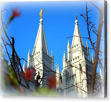 Salt Lake Temple Top Canvas Print by Heidi Manly