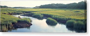 Salt Marsh Cape Cod Ma Usa Canvas Print by Panoramic Images