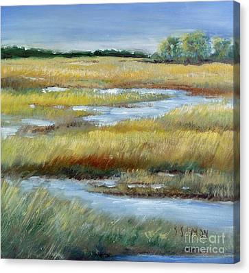 Salt Marsh Canvas Print by Sally Simon