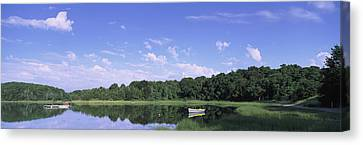 Salt Pond In A Forest, Massachusetts Canvas Print