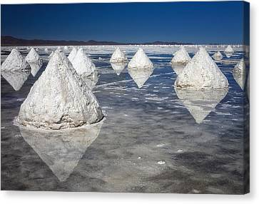 Salt Pyramids Canvas Print