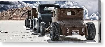 Salt Flats Canvas Print - Salt Rats by Keith Berr
