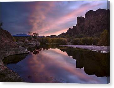 Salt River Sunrise 2 Canvas Print by Dave Dilli