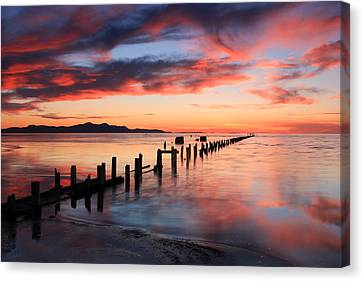 Saltair Sunset Canvas Print