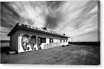 Canvas Print featuring the photograph Salton Sea Cafe by Robert  Aycock