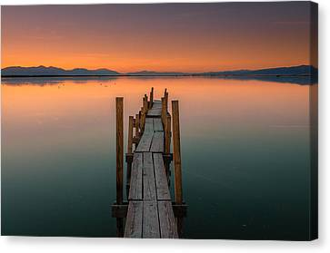 Salton Sea Dock Canvas Print