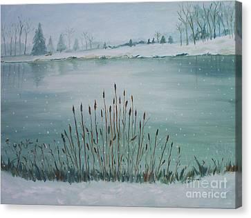 Saltville Pond Canvas Print by Julie Brugh Riffey