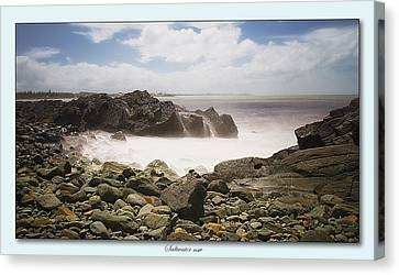 Saltwater On The Rocks 01 Canvas Print by Kevin Chippindall