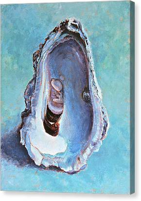 Canvas Print featuring the painting Salty by Pam Talley