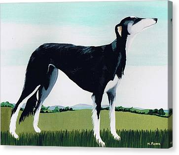 Saluki Cross Canvas Print by Maggie Rowe