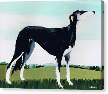 Saluki Cross Canvas Print by Maggie Rowe