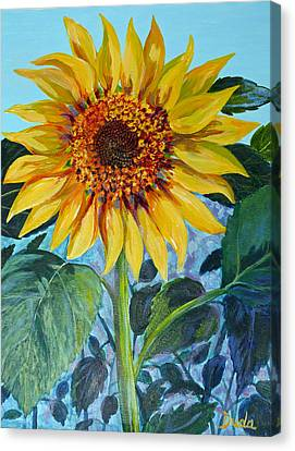 Salute The Sun Canvas Print by Susan Duda