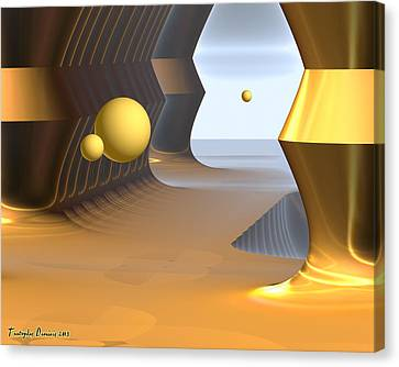 Salvador Dali Eternal Ranch. 2013 80/64 Cm.  Canvas Print by Tautvydas Davainis